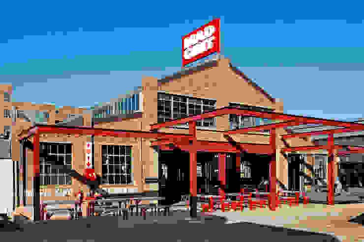 Mad Giant brewery and restaurant by Haldane Martin Iconic Design Industrial Bricks