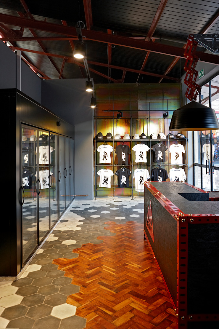 Mad Giant brewery and restaurant by Haldane Martin Iconic Design Industrial Tiles