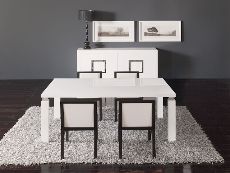 Salas de jantar Dining rooms www.intense-mobiliario.com WHITE por Intense mobiliário e interiores; Moderno