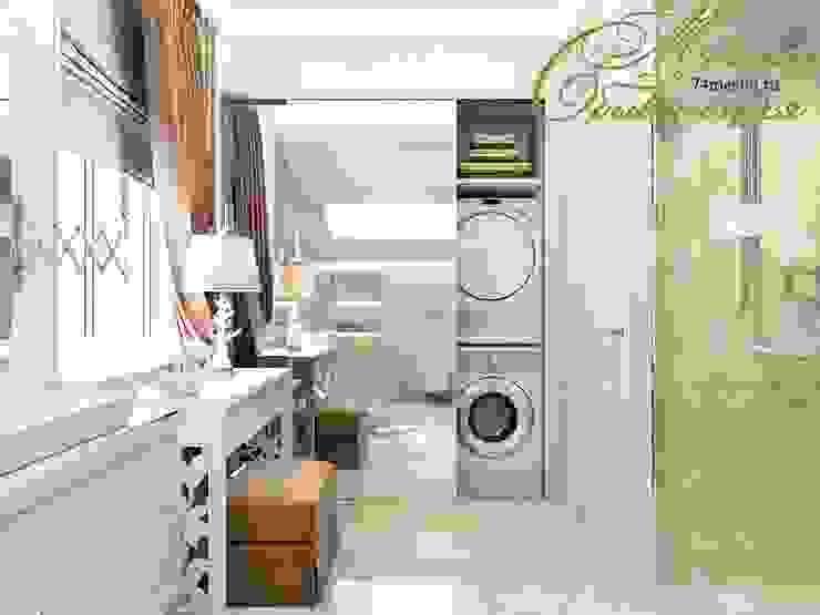 Разумное использование пространства: Ванные комнаты в . Автор – Компания архитекторов Латышевых 'Мечты сбываются'