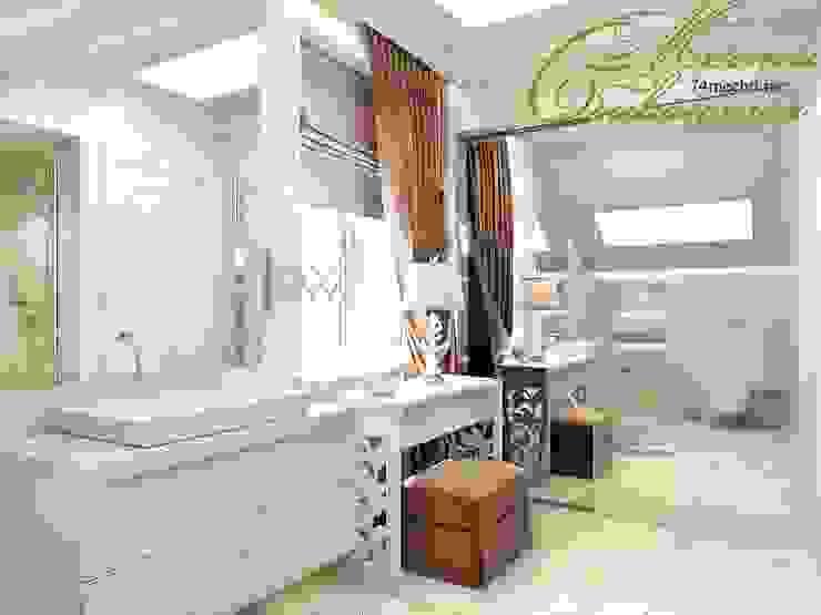 Разумное использование пространства: Ванные комнаты в . Автор – Компания архитекторов Латышевых 'Мечты сбываются', Кантри