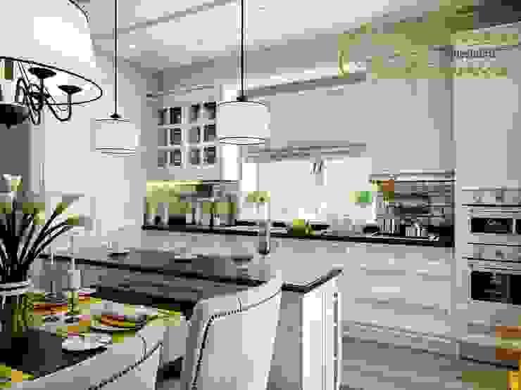 Разумное использование пространства: Кухни в . Автор – Компания архитекторов Латышевых 'Мечты сбываются', Кантри