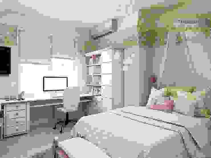 Dormitorios de estilo  de Компания архитекторов Латышевых 'Мечты сбываются', Rural