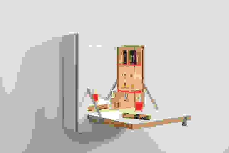 Fläpps Schminktänk – Weiß (mit Beleuchtung) von AMBIVALENZ Minimalistisch Sperrholz