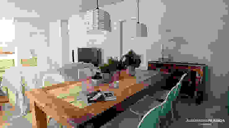 Salle à manger de style  par Studio Frasson, Méditerranéen
