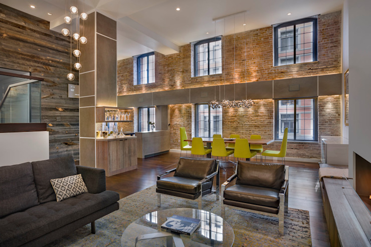Laight Street Duplex Rodriguez Studio Architecture PC Modern Living Room