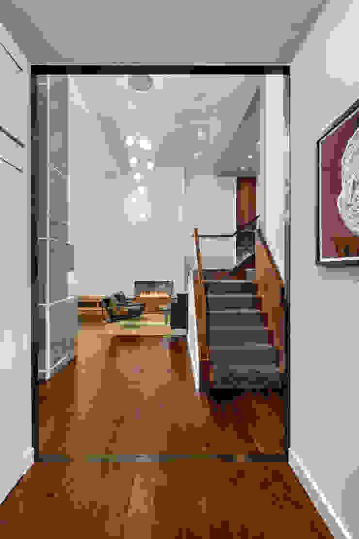 Laight Street Duplex Modern Living Room by Rodriguez Studio Architecture PC Modern