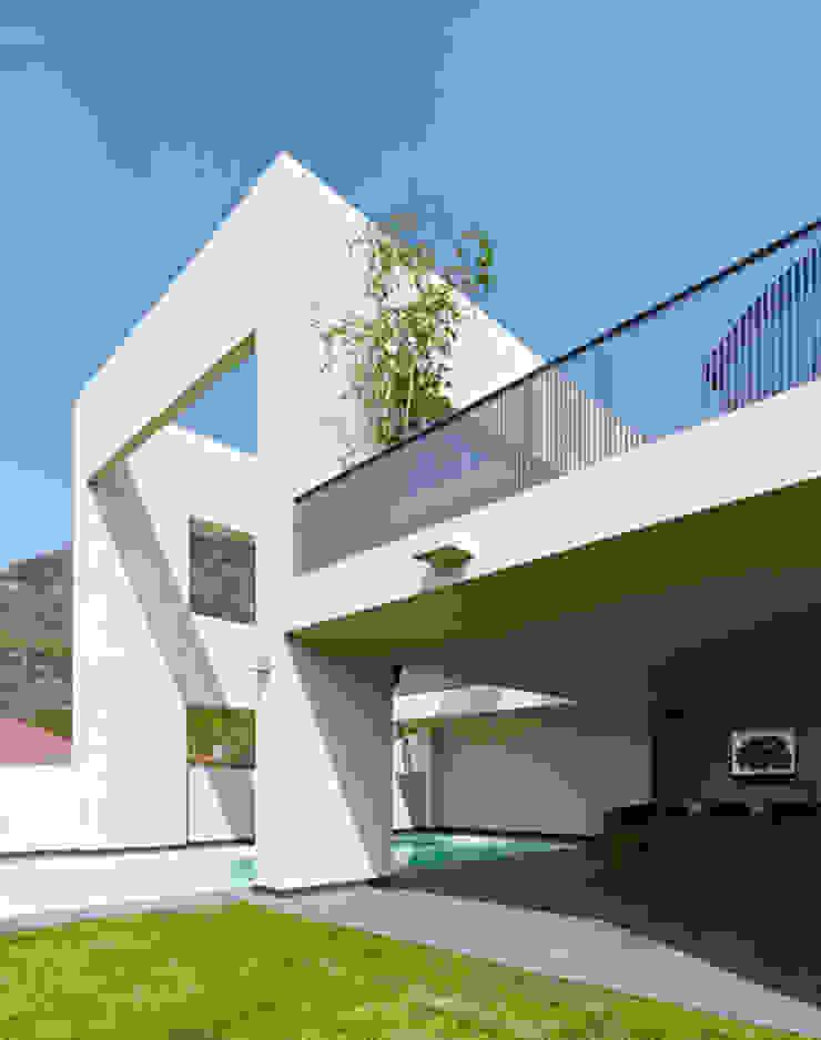ALBERCA Casas minimalistas de Excelencia en Diseño Minimalista Ladrillos