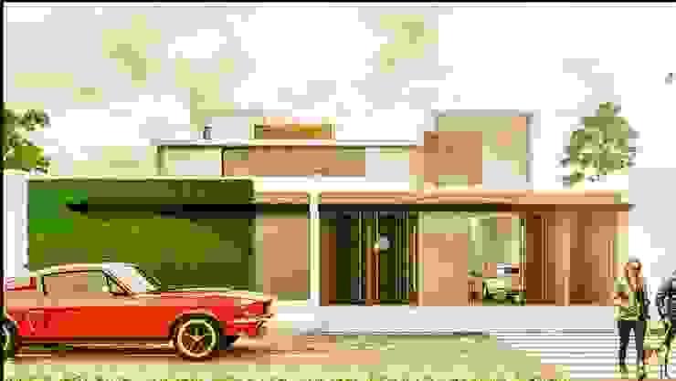 Casa PV Casas minimalistas de Despacho Integral de Arquitectura y Construccion Minimalista Ladrillos
