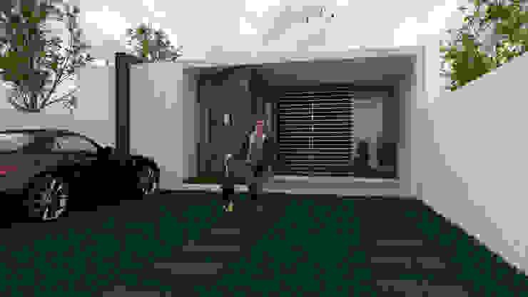 CASA NIDIA Casas minimalistas de Despacho Integral de Arquitectura y Construccion Minimalista Ladrillos