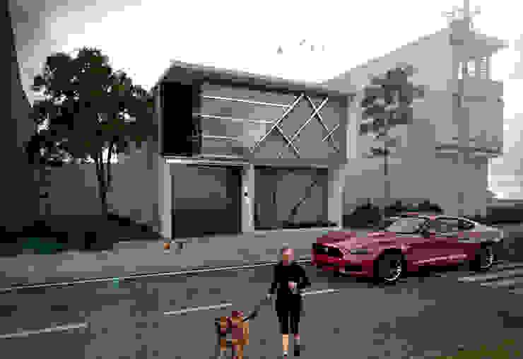 Casa FGG Casas minimalistas de Despacho Integral de Arquitectura y Construccion Minimalista Ladrillos