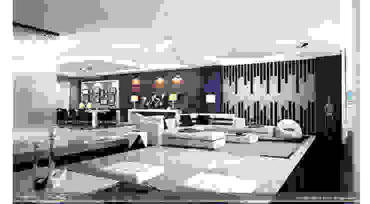 living -Salon - dinning room Modern Living Room by ARCADE DESIGNS Modern Marble