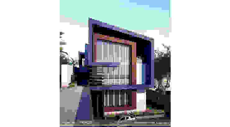 Back yard -street view Modern Houses by ARCADE DESIGNS Modern Wood Wood effect