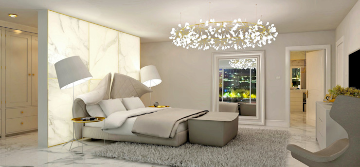 غرفة نوم تنفيذ Lena Lobiv Interior Design