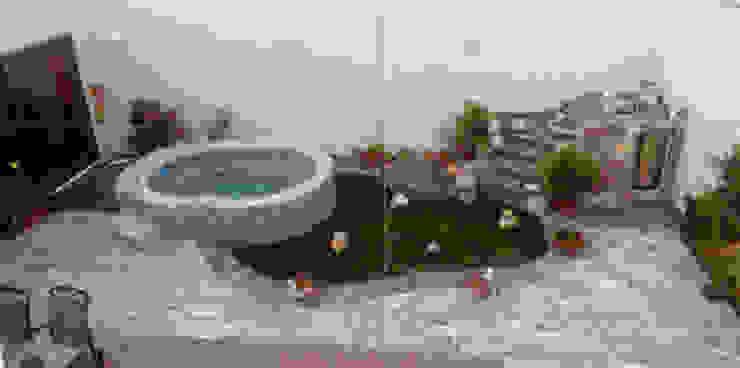 Tina de hidromasaje-espejo-cascada Diseño Aplicado Avanzado de Guadalajara Albercas mediterráneas