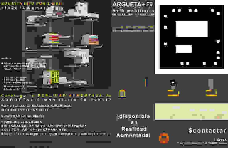 Librero/multimedia a+f9 varios nanos. Ahora en realidad aumentada. de argueta+f9 arquitectura Moderno Tableros de virutas orientadas