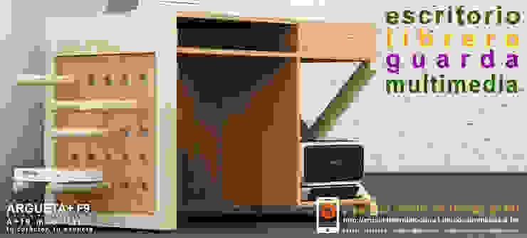 Escritorio/librero/guarda/multimedia a+f9 el tibu nanos modelo SELVA ÁRIDA. Ahora en realidad aumentada. de argueta+f9 arquitectura Moderno Derivados de madera Transparente