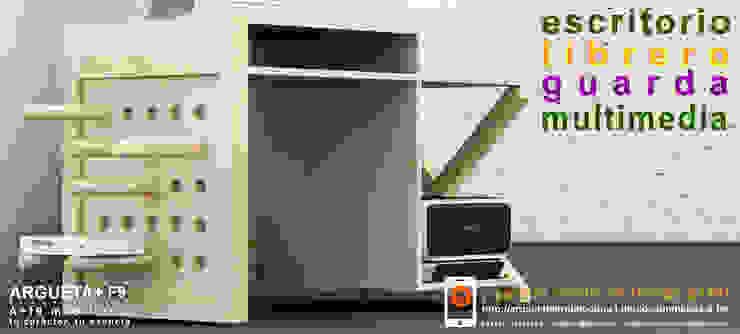 Escritorio/librero/guarda/multimedia a+f9 el tibu nanos modelo NATURALEZA SIMPLE. Ahora en realidad aumentada. de argueta+f9 arquitectura Moderno Madera maciza Multicolor