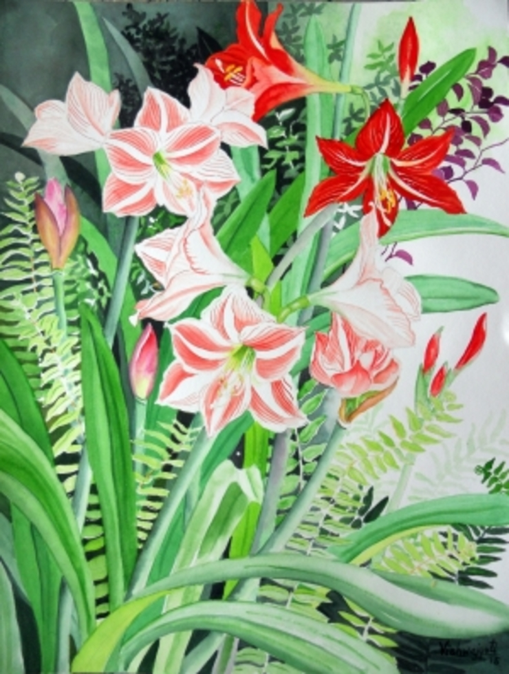 Amaryllis and Hippeastrum: asian  by Indian Art Ideas,Asian