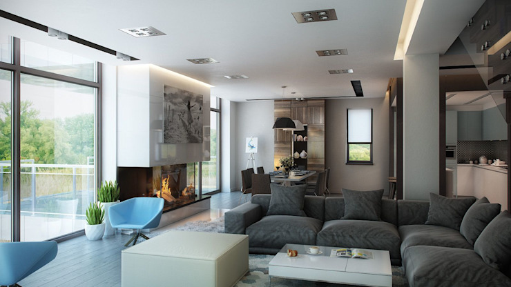ARCHLINE ARCHITECTURE & DESIGN Living room