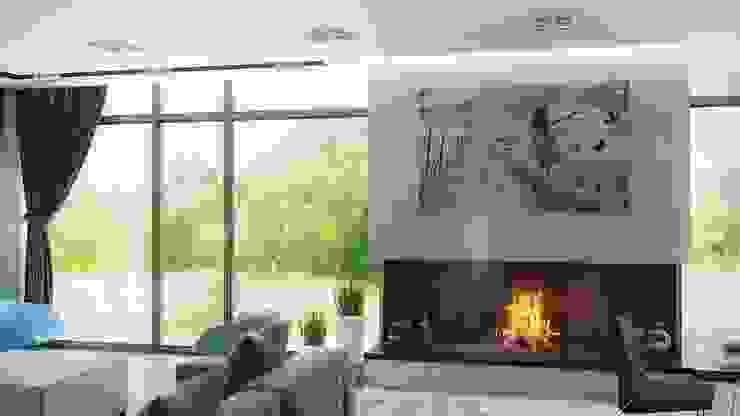 ARCHLINE ARCHITECTURE & DESIGN Minimalistische Wohnzimmer