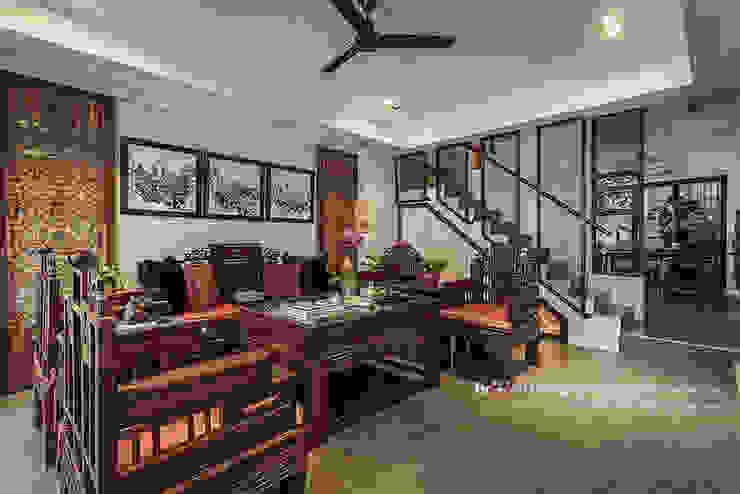 新東方-客廳 根據 大不列顛空間感室內裝修設計 日式風、東方風