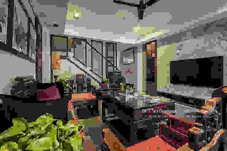 新東方-客廳 Asian style living room by 大不列顛空間感室內裝修設計 Asian