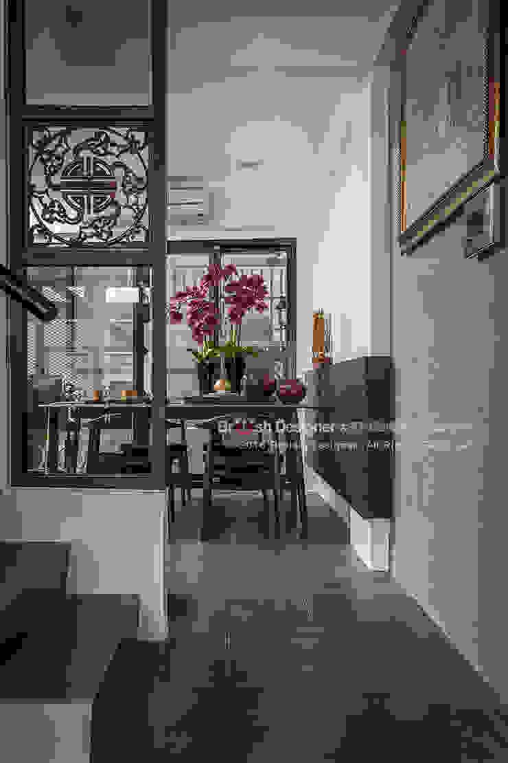 新東方-梯間 亞洲風玄關、階梯與走廊 根據 大不列顛空間感室內裝修設計 日式風、東方風