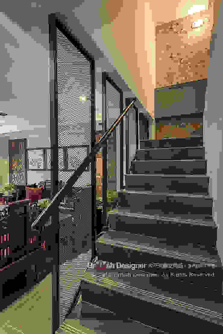 新東方混搭工業宅~ 亞洲風玄關、階梯與走廊 根據 大不列顛空間感室內裝修設計 日式風、東方風
