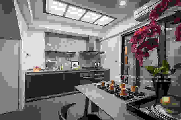 新東方-餐廚區 Asian style kitchen by 大不列顛空間感室內裝修設計 Asian