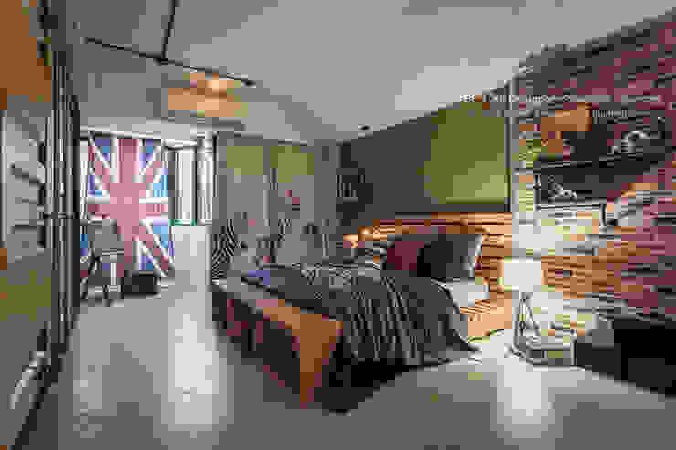 Dormitorios asiáticos de 大不列顛空間感室內裝修設計 Asiático