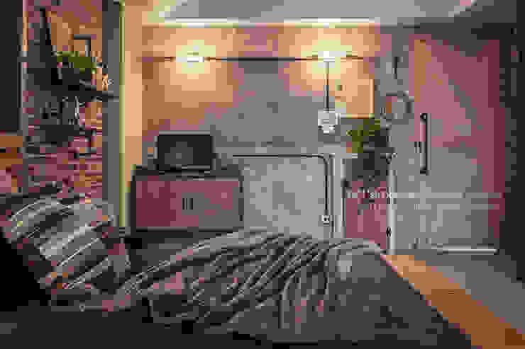 輕工業風-臥室 Asian style bedroom by 大不列顛空間感室內裝修設計 Asian