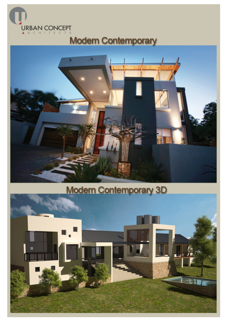 Modern contemporary Modern houses by Urban concept architects Modern Concrete