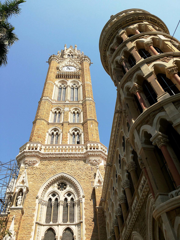 Rajabai Clock Tower and Mumbai University Library Colonial style walls & floors by Somaya and Kalappa Consultants Colonial