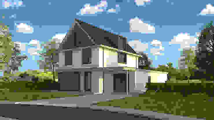 Voorzijde villa Modern Houses by Villa Delphia Modern