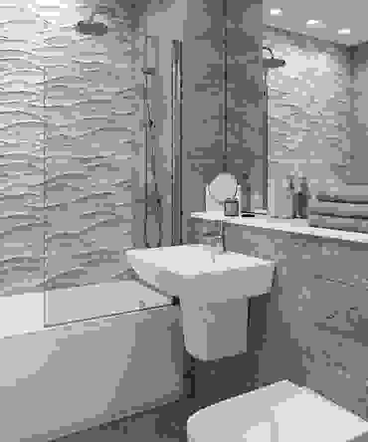Bathroom CGI Visualisation #2 Modern Bathroom by White Crow Studios Ltd Modern Glass