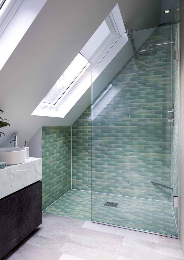Bathroom CGI Visualisation #5 Industrial style bathroom by White Crow Studios Ltd Industrial Ceramic