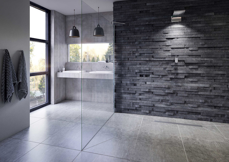 Bathroom CGI Visualisation #9 Rustic style bathrooms by White Crow Studios Ltd Rustic Slate
