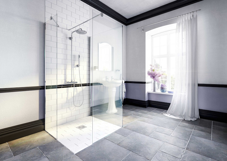Bathroom CGI Visualisation #10 Modern bathroom by White Crow Studios Ltd Modern Ceramic