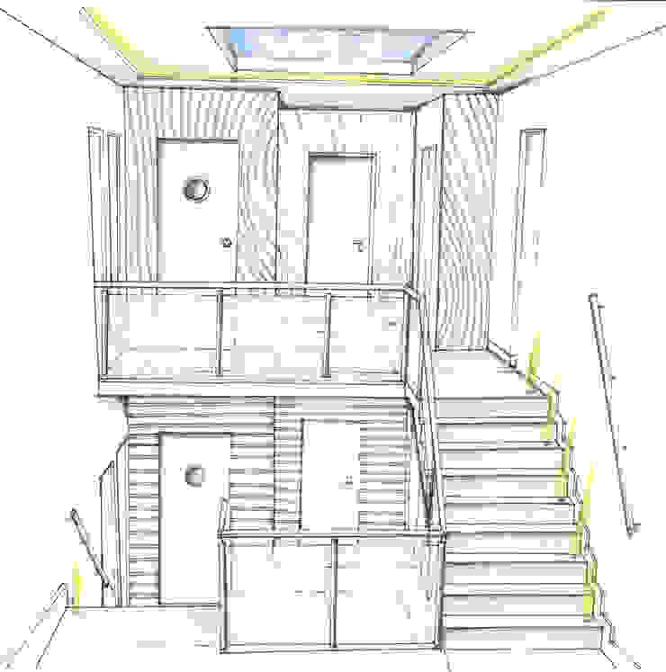 Interieur trappenhal Burgemeester Reigerstraat Utrecht Hal van LINDESIGN Amsterdam Ontwerp Design Interieur Industrieel Meubels Kunst
