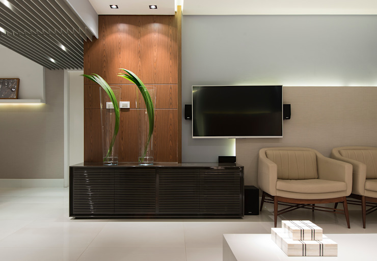 HOME THEATER Salas de estar modernas por Matheus Menezes Arquiteto Moderno