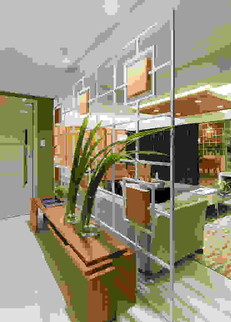 Pasillos, vestíbulos y escaleras de estilo moderno de Matheus Menezes Arquiteto Moderno