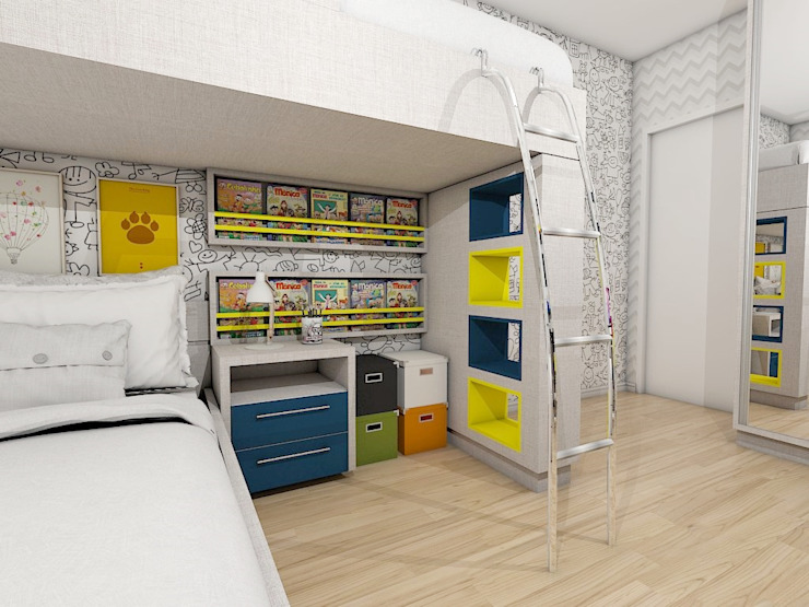 Dormitório para dois irmãos Sublime Arquitetura & Interiores Quarto infantil moderno