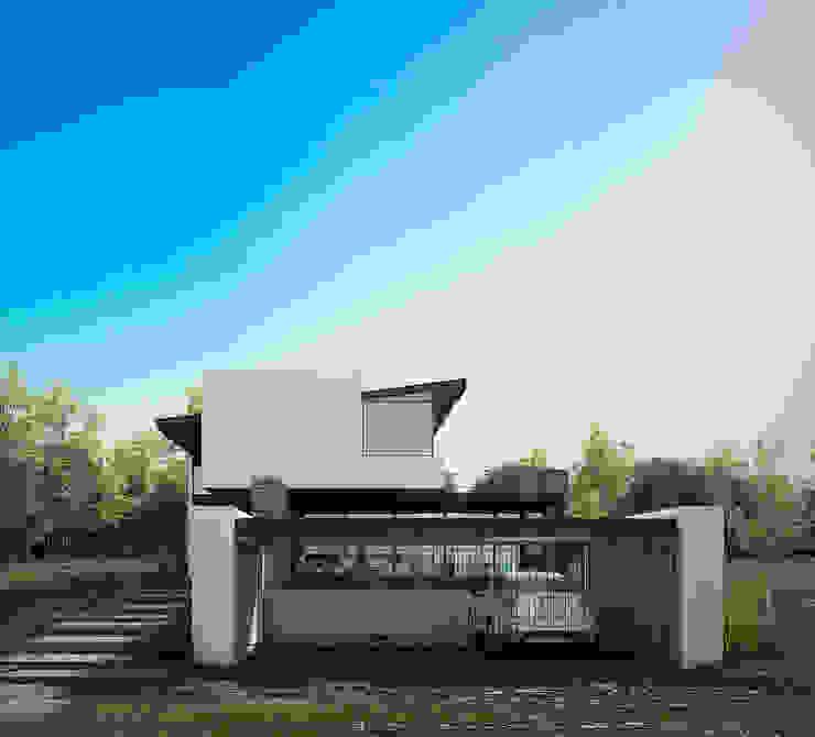 Fachada Casas modernas de BAG arquitectura Moderno Hierro/Acero