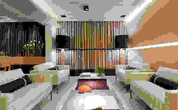 Salones de estilo moderno de Matheus Menezes Arquiteto Moderno