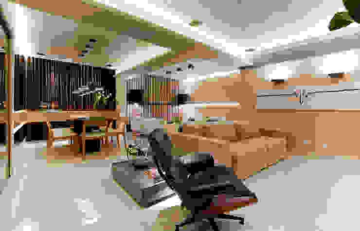 Salas multimedia de estilo moderno de Matheus Menezes Arquiteto Moderno