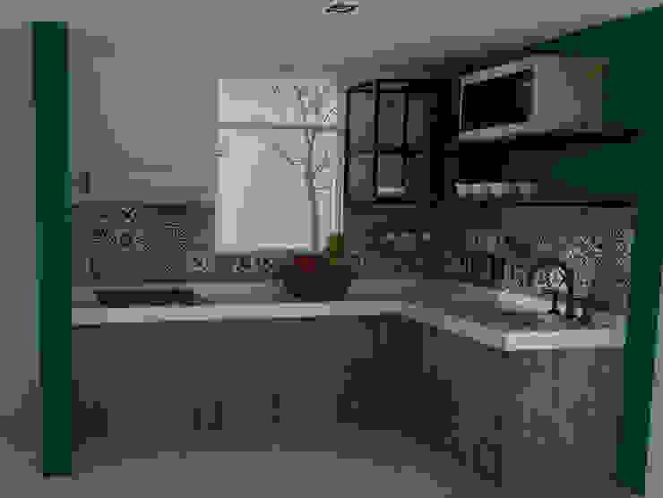 Cocinas de estilo  por GT-R Arquitectos