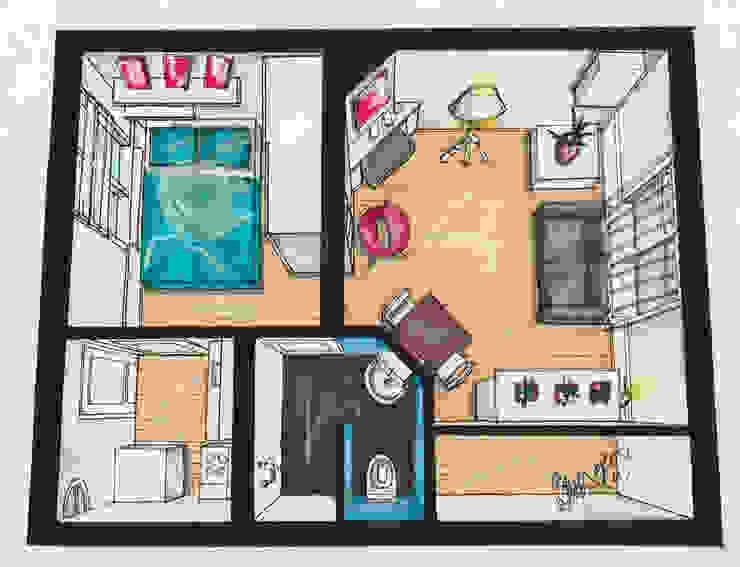 Nieuw interieur hofjeswoning Schuddegeest Den Haag Woonkamer Badkamer Slaapkamer Toilet van LINDESIGN Amsterdam Ontwerp Design Interieur Industrieel Meubels Kunst