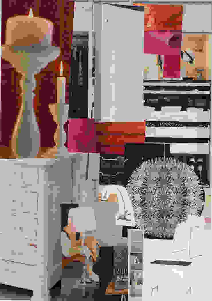 Sfeer collage nieuw interieur hofjeswoning Schuddegeest Den Haag van LINDESIGN Amsterdam Ontwerp Design Interieur Industrieel Meubels Kunst Aziatisch Massief hout Bont