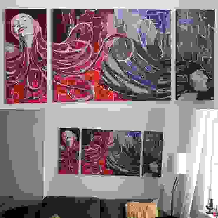 Modern living room by LINDESIGN Amsterdam Ontwerp Design Interieur Industrieel Meubels Kunst Modern